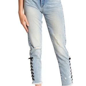 NWT BLANKNYC High Rise Laced Skinny Jeans